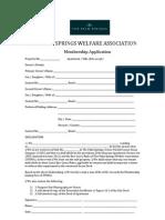 TPSWA Membership Application