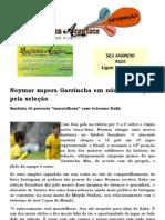 Neymar supera Garrincha em número de gols pela seleção
