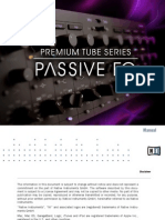 Premium Tube Series Passive EQ Manual English