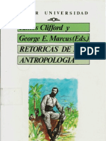 1.1.Clifford, James y Marcus, George E. (Eds) - Retóricas de la antropología