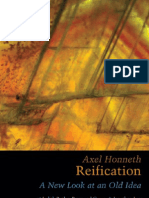 (the Berkeley Tanner Lectures)Axel Honneth-Reification. a New Look at an Old Idea-Oxford University Press, USA(2008)