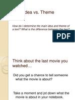 Main Idea vs Theme