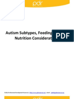 Autism Subtypes Feeding Issues and Nutrition Considerations