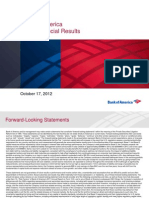 Bank of America Earnings Presentation 3Q12