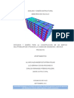 Memorias de calculos, analisis estructural de un edificio