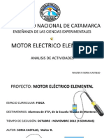 Proyecto Construcción de un  Motor Eléctrico Elemental