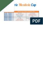 Monitola Cup Fine Girone di Ritorno - Calendario 2013