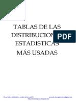 Tablas de las Distribuciones Estadisticas Mas Usadas