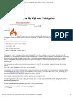 Manejo de errores en MySQL con CodeIgniter « David Rojas - Diseño y desarrollo web
