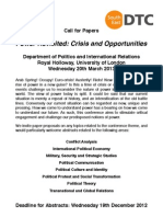 ESRC SEDTC Politics Postgraduate Conference - Call for Papers