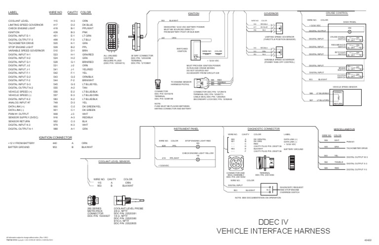 ddec iv oem wiring diagram. Black Bedroom Furniture Sets. Home Design Ideas