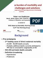 Measuring the Burden of Morbidity and Mortality, PVonDadelszen, FIGO2012