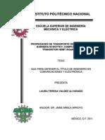 Propiedades de Transporte de Carga de La Barrera Schottky Compuerta Del Transistor Hemt Algan Gan
