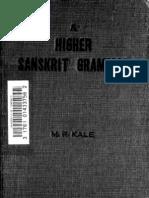 Higher Sanskrit Grammar (Kale)
