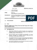 Budget Survey Report, Oct. 17, 2012