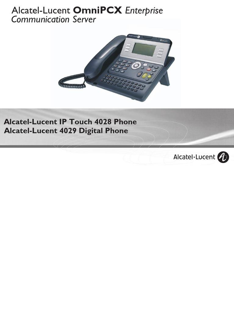 Alcatel-Lucent 4029 IP Touch 4028 Digital Phone OXOffice Manual  MU19005ACAC-E900ed01-0843
