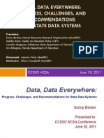Data Data Everywhere CCSSO Presentation at National Conference on Student Assessment
