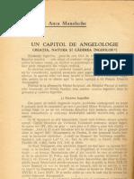 Anca Manolache Un Capitol de Angelologie Creatia Natura Si Caderea Ingerilor