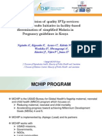 Improving Provision of Quality Intermittent Preventive Treatment in Pregnancy (IPTp) Services for Malaria in Kenya, ANgindu, FIGO2012