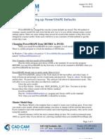 Setting Up PowerShape Defaults