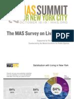 New York City Livability Survey 2012