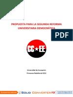 PROPUESTA PARA LA SEGUNDA REFORMA UNIVERSITARIA DEMOCRÁTICA UDEC-CONSEJOS ESTUDIANTILES (CC.EE)