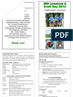 Livestock & Craft Day Programme Overview 2012