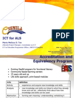 eSkwela - ICT for ALS - Jan 2012 MMTan