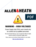 Allen Heath DR128 Service Manual