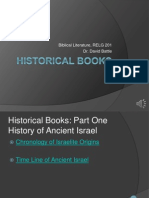Biblical Literature Lecture 05 Historical Books