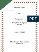 Narrative Report Nelly