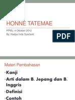 Honne Tatemae