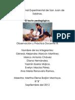 El Tacto Pedagogico Resumen