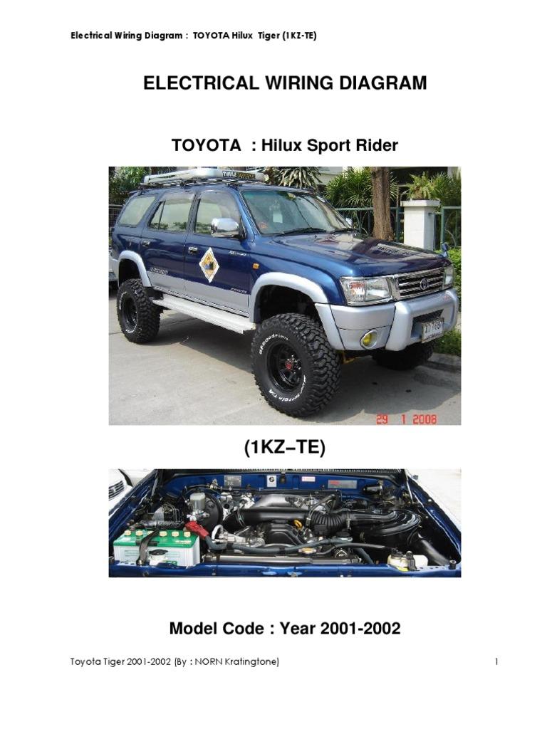 Toyota Kzte Wiring Diagram Directv Genie Mini Tiger 1kz 2001 1993 4runner