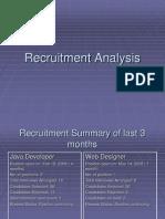 Recruitment Analysis of ABC Company