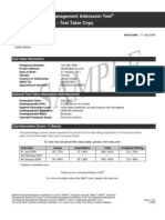 Sample Score Report 2009
