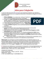 Requisitos para Colegiación cip callao