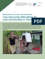 Low Cost Pump Alternatives (WSP)
