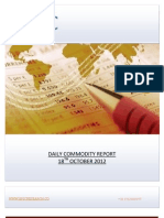 DAILY COMMODITY REPORT BY EPIC RESEARCH- 18 OCTOBER 2012