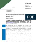Press Release - Sappi Ecoprint 2012 UK