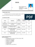 Jagateesan Resume