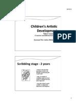 Week 7 Children's Artistic Development