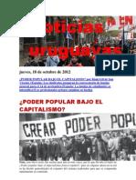 Noticias Uruguayas Jueves 18 de Octubre Del 2012