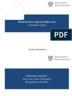 Ministerstwo Sprawiedliwości - działania i plany