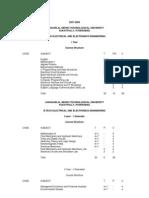 JNTU Syllabus Books for EEE(R07 Regulation)