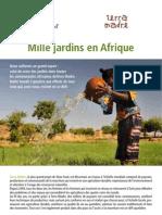 Mille jardins potagers en Afrique