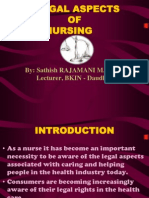 Legal Aspects of Nursing