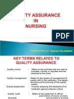 Quality Assurance in Nursing