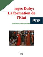Georges Duby = La Formation de l'Etat