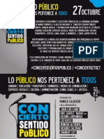 """Manifiesto """"Concierto Sentido Público""""."""